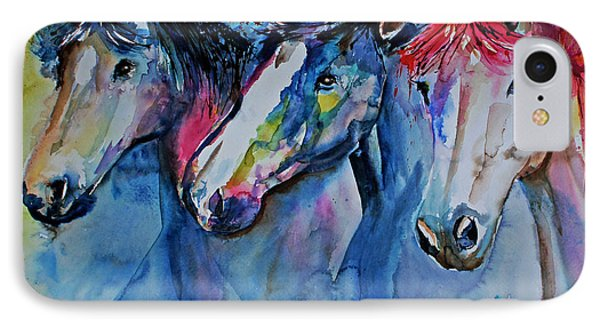 Caballos IPhone Case by Isabel Salvador