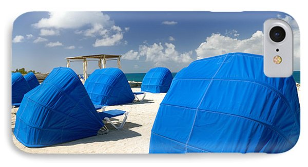 Cabanas On The Beach Phone Case by Amy Cicconi