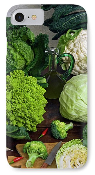 Cabbages -clockwise- Broccoli IPhone 7 Case by Nico Tondini
