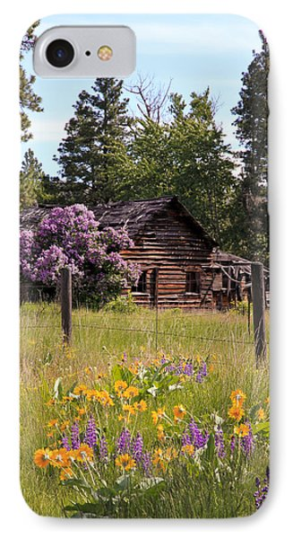 Cabin And Wildflowers Phone Case by Athena Mckinzie