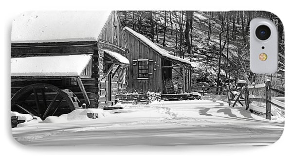 Cabin Fever In Black And White IPhone Case by Paul Ward