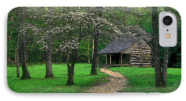IPhone Case featuring the photograph Cabin In Cades Cove by Rodney Lee Williams