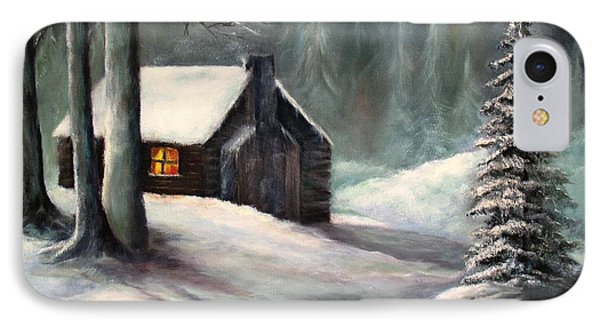 Cabin In The Woods IPhone Case by Hazel Holland