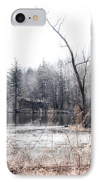 Cabin In The Woods Phone Case by Julie Palencia