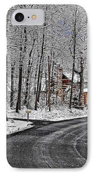 Cabin In The Woods Phone Case by Lara Ellis
