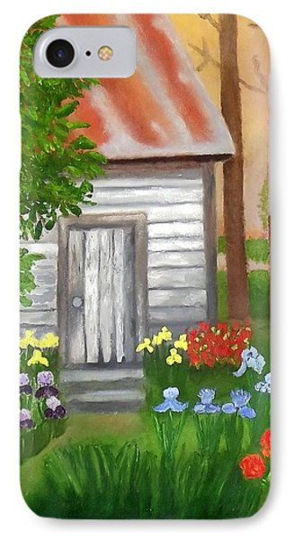 Cabin In The Woods IPhone Case by Margaret Harmon