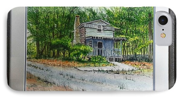 IPhone Case featuring the painting Cabin In The Woods by Richard Benson
