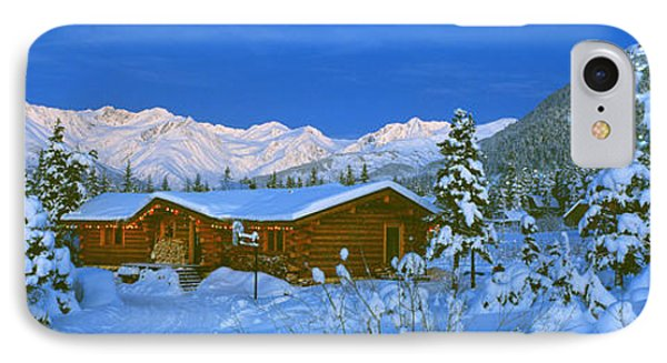 Cabin Mount Alyeska, Alaska, Usa IPhone Case by Panoramic Images