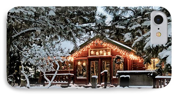 Cabin With Christmas Lights IPhone Case