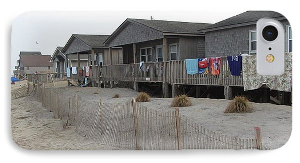 Cabins On Buxton Beach IPhone Case by Cathy Lindsey