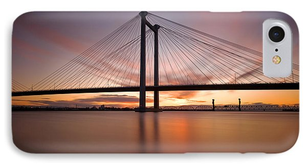 IPhone Case featuring the photograph Cable Bridge by Ronda Kimbrow