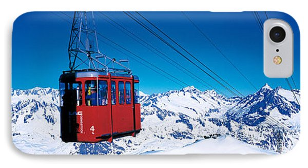 Cable Car Andermatt Switzerland IPhone Case by Panoramic Images