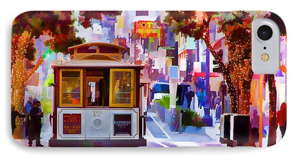 Cable Car At The Powell Street Turnaround IPhone Case by Bill Gallagher
