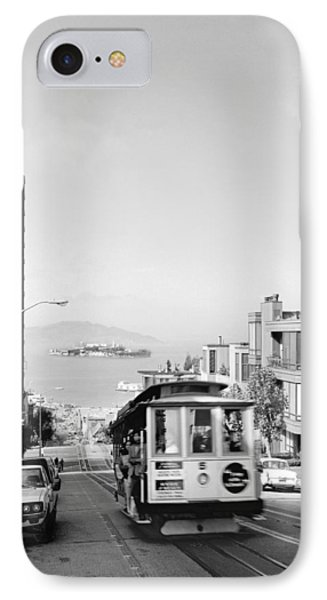 Cable Car On Hyde Street Hill IPhone Case by Underwood Archives