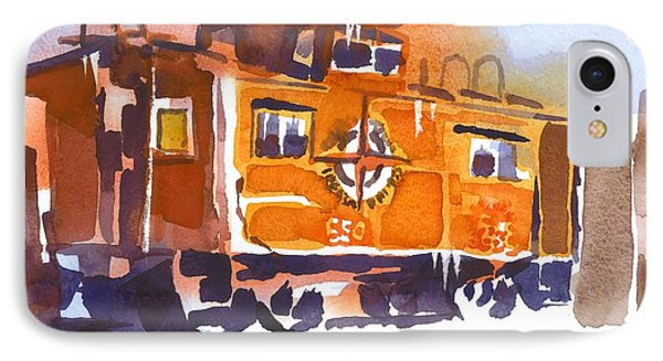 Caboose In Snow And Ice IPhone Case