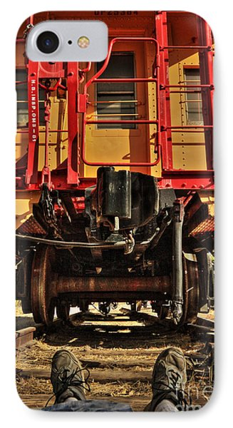 Caboose On The Loose Phone Case by James Eddy