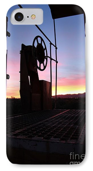 Caboose Waiting Til Dawn Phone Case by Diane Greco-Lesser