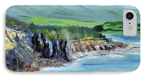 IPhone Case featuring the painting Cabot Trail Coastline by Michael Daniels