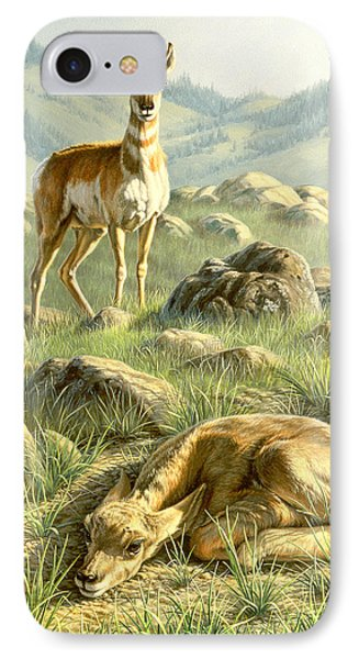 Cached Treasure - Pronghorn IPhone Case