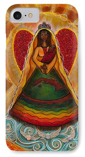 IPhone Case featuring the painting Cachita Madonna by Deborha Kerr