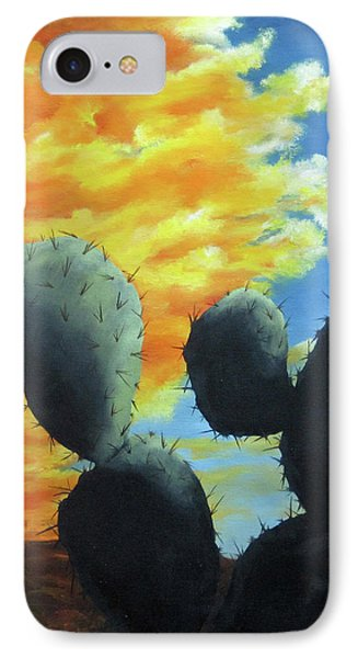 Cacti At Sunset IPhone Case