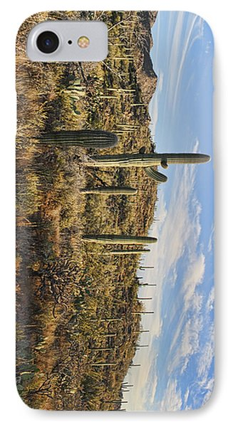 IPhone Case featuring the photograph Cacti In Saguaro Natl Park - Phone Case by Gregory Scott