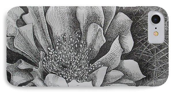 Cactus Flower Phone Case by Denis Gloudeman