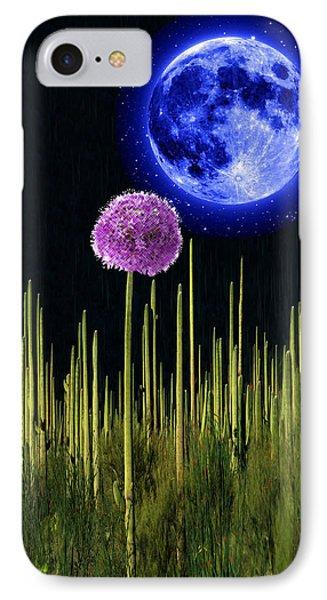 Cactus Flower Moon IPhone Case by Bruce Iorio