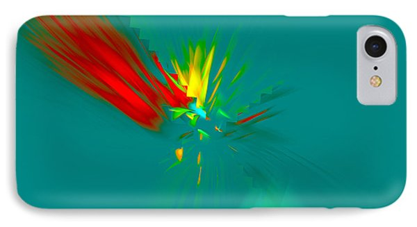 IPhone Case featuring the digital art Cactus Flower by Victoria Harrington