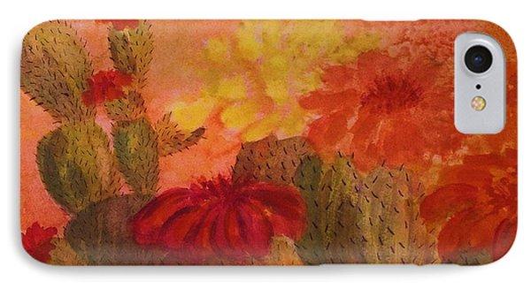Cactus Garden - Square Format IPhone Case by Ellen Levinson