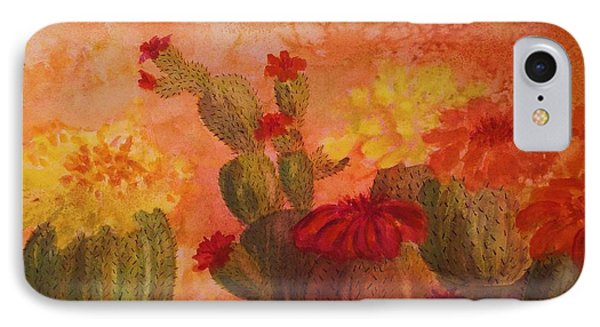 Cactus Garden IPhone Case by Ellen Levinson