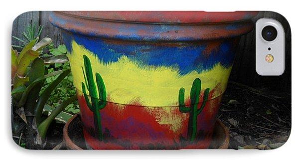 Cactus Garden II IPhone Case by Val Oconnor