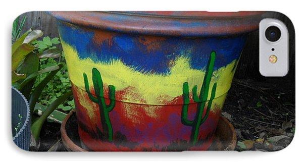Cactus Garden IIi IPhone Case by Val Oconnor