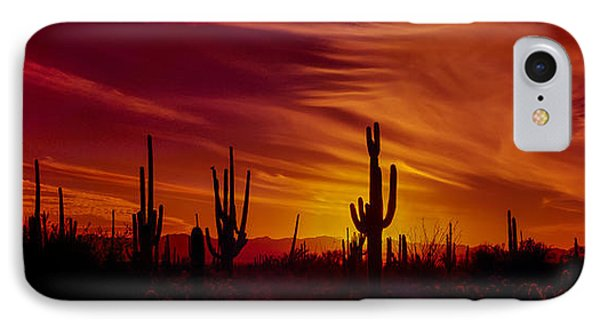 Cactus Glow IPhone Case by Mary Jo Allen