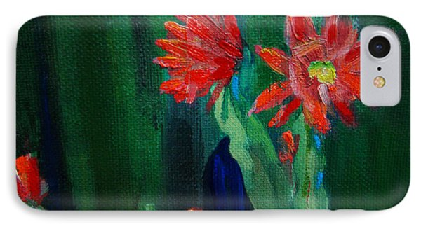 IPhone Case featuring the painting Cactus In Bloom by Dan Redmon