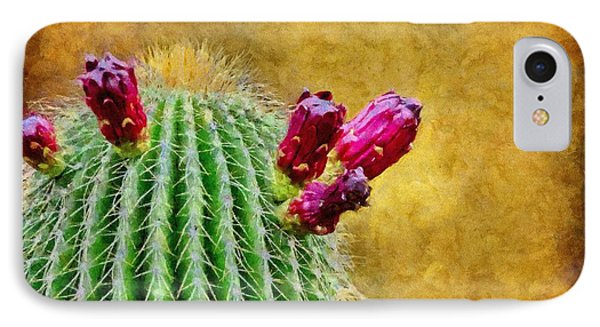 Cactus With Flowers Phone Case by Jeff Kolker