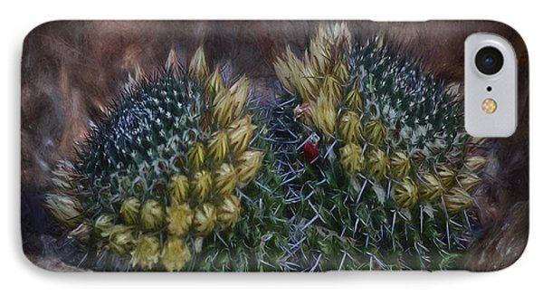 Cactuses  ... IPhone Case by Chuck Caramella
