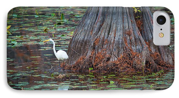 Caddo Lake Egret IPhone Case