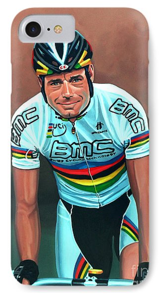 Cadel Evans IPhone Case by Paul Meijering