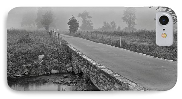 Cades Cove Black And White Phone Case by Frozen in Time Fine Art Photography