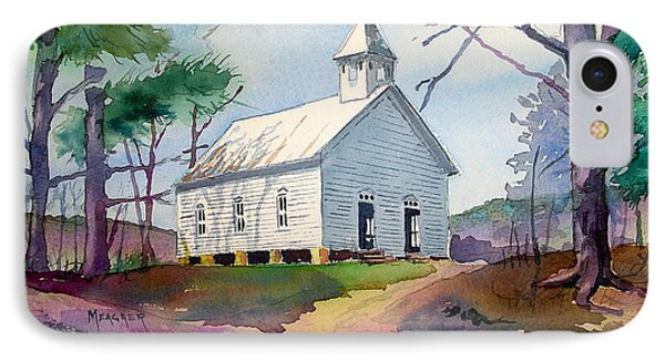 Cades Cove Church Phone Case by Spencer Meagher