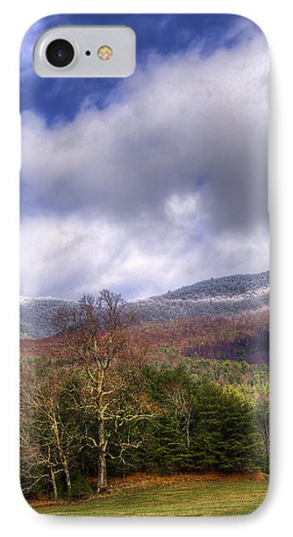 Cades Cove First Dusting Of Snow II Phone Case by Debra and Dave Vanderlaan
