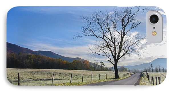 Tree On A Frosty Morn IPhone Case by Marilyn Carlyle Greiner