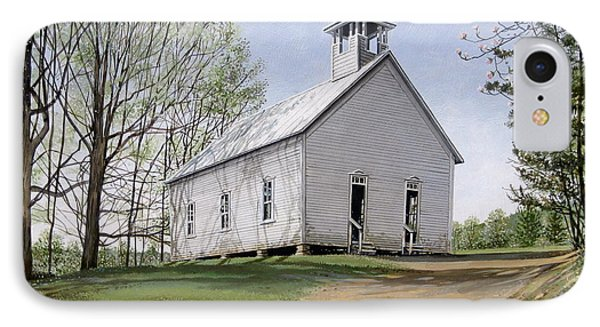 IPhone Case featuring the painting Cades Cove Methodist Church by Bob  George