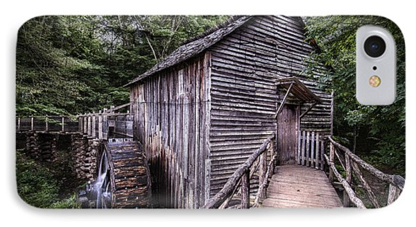 Cades Cove Rustic Cable Mill  IPhone Case by Thomas Schoeller