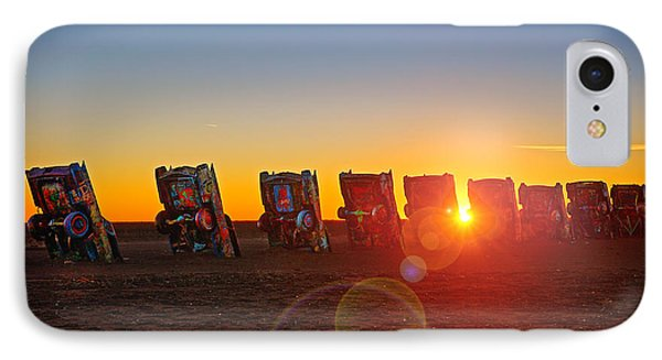 Cadillac Ranch Sunset IPhone Case