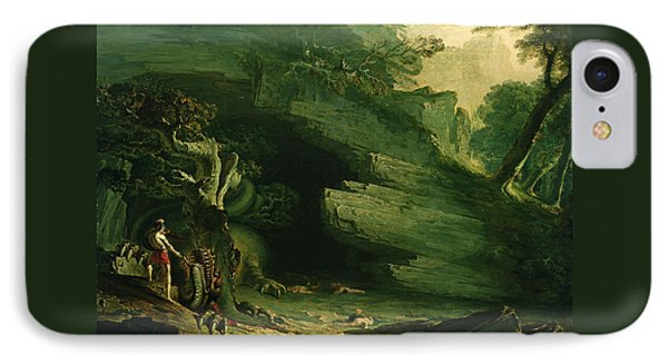Cadmus And The Dragon  IPhone Case by John Martin