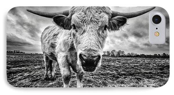 Cadzow White Cow Female Phone Case by John Farnan