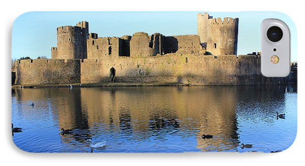 IPhone Case featuring the photograph Caerphilly Castle by Vicki Spindler