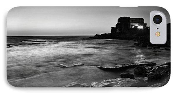 Caesarea  Bw IPhone Case by Meir Ezrachi